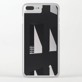 Shadows on a wall with brick Clear iPhone Case