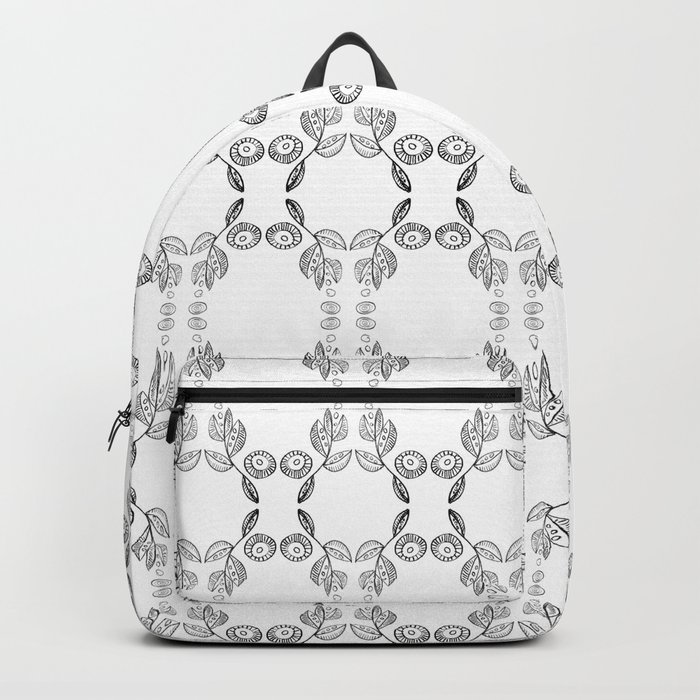 Hand drawn Seed Pods Pattern Backpack