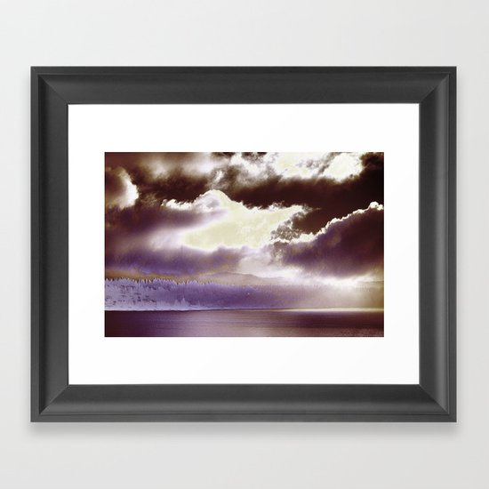 Sky Ring Framed Art Print