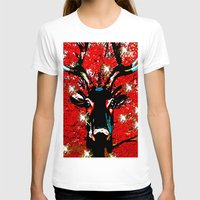 sparkle T-shirts featuring Reindeer Sparkle by Saundra Myles
