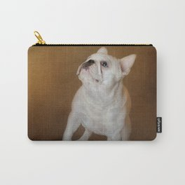 Little Beggar - White French Bulldog Carry-All Pouch