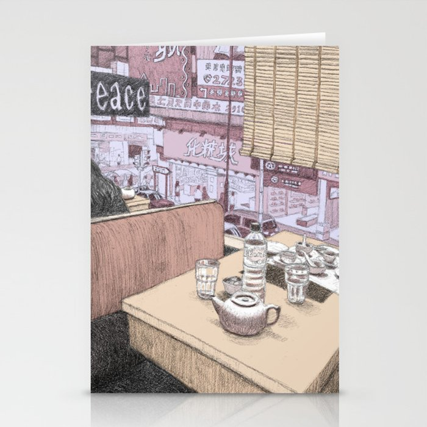 Hong Kong Diner Stationery Cards