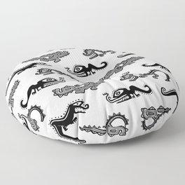 Alligator Dance Party Floor Pillow