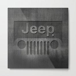 Black Jeep Metal Print