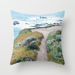 The Path to the Ocean Throw Pillow