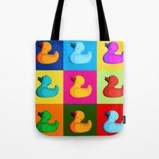 pop art duck Tote Bag