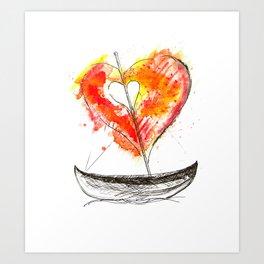 love boat Art Print