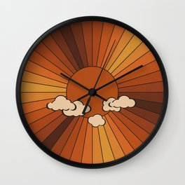 Retro Sunshine Wall Clock