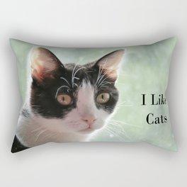 I Like Cats Rectangular Pillow