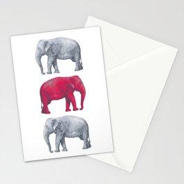 Elephants Red II Stationery Cards