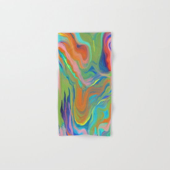 AGATE INTERPRETED:  HOT WAVES SUMMER BREEZE OIL PAINTING Hand & Bath Towel