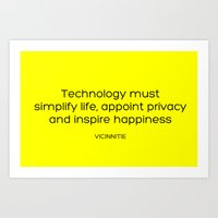 technology Art Prints featuring TECHNOLOGY by Vicinnitie