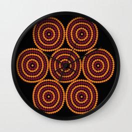 Aboriginal Cycle Style Painting Wall Clock