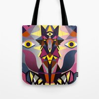 wolves Tote Bags featuring Wolves by youareconstance