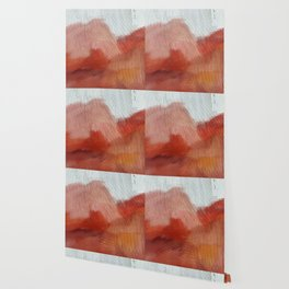 Desert Journey [2]: a textured, abstract piece in pinks, reds, and white by Alyssa Hamilton Art Wallpaper