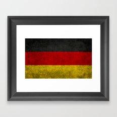 Flag of Germany - Vintage version Framed Art Print