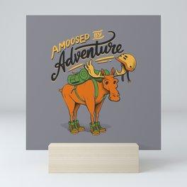Amoosed by Adventure Mini Art Print
