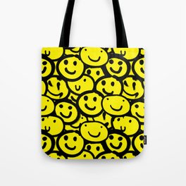 Smiley Face Yellow Tote Bag