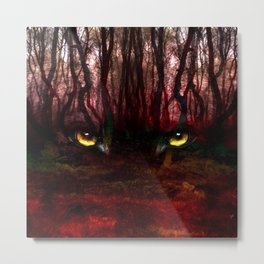 The Wolf In The Woods Metal Print