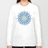 royal Long Sleeve T-shirts featuring Royal Blue Mandala by Cat Coquillette