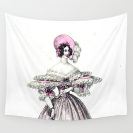 Viennese Fashion 1836 Wall Tapestry
