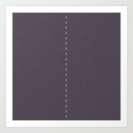 2 lanes, Time Rider Art Print
