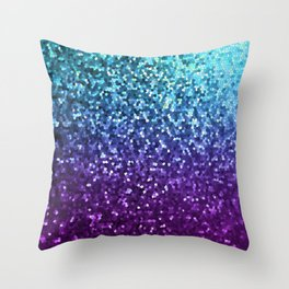 Mosaic Sparkley Texture G198 Throw Pillow