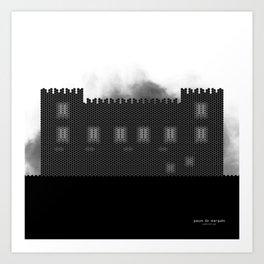 HexArchi - Portugal, Ponte de Lima, Paços do Marquês Art Print