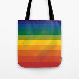 Rainbow Diamond Tote Bag