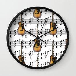 Dancing Guitars Wall Clock