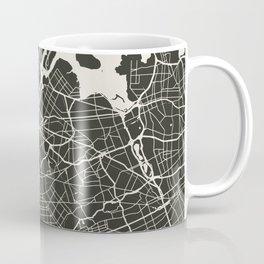 New York City Map_BLACK Coffee Mug