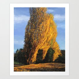 The fire tree (Colors of Fall #1) Art Print