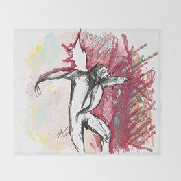 A Demon Dances Throw Blanket