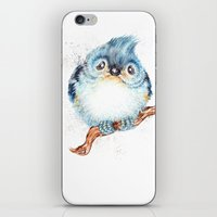 baby iPhone & iPod Skins featuring Baby titmouse by Patrizia Ambrosini