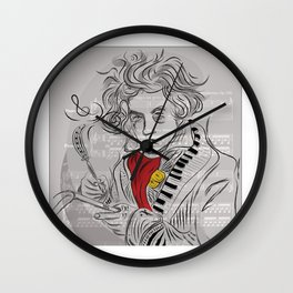 Beethoven in musica Wall Clock