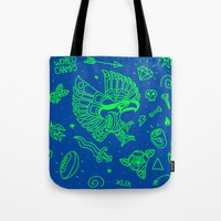 seahawks Tote Bags featuring Seahawks Super Bowl Champion by Maioriz Home