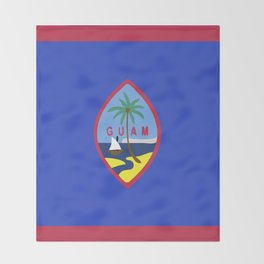 Guam flag emblem Throw Blanket