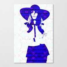 Cara Delevigne: Wide Brimmed Hat Canvas Print