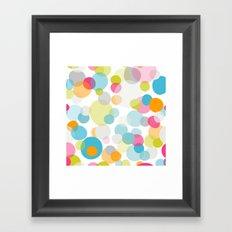 Multi dots Framed Art Print
