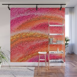 Rote Wellen - Red waves Wall Mural