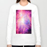 nebula Long Sleeve T-shirts featuring Pink Purple Orion NebulA by 2sweet4words Designs