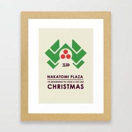 Nakitomi Plaza - Action movie Christmas Framed Art Print