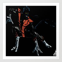 nightcrawler Art Prints featuring Nightcrawler by bernardtime