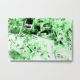 keyboard keys letters wsdie Metal Print