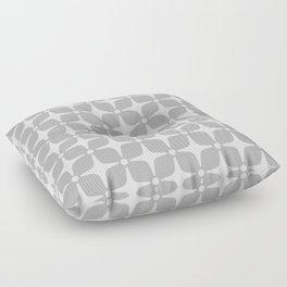 Mid Century Modern Star Pattern Gray 2 Floor Pillow