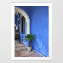 Blue Mansion in Penang, Malaysia (2013f) Art Print