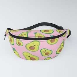 Pretty Pink Avocado Pattern   Fanny Pack
