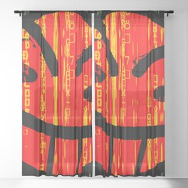 Cowboy Bebop Hacked Smile Sheer Curtain