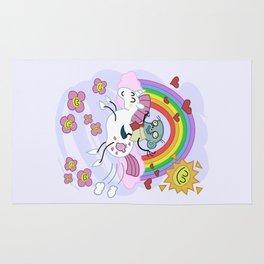 Unicorn Rainbow Ride to Love - Steve, the loving zombie Rug