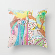 My world Throw Pillow